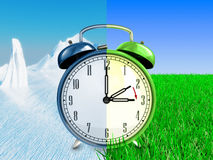 Daylight saving time concept Royalty Free Stock Images