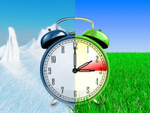 Daylight saving time concept Stock Photography