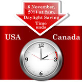 Daylight saving time ends. Daylight saving time ends sunday, november 6, 2011 at 2 am. Icon clock Vector Illustration