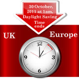 Daylight saving time ends. Daylight saving time ends sunday, november 6, 2011 at 2 am. (Europe Vector Illustration