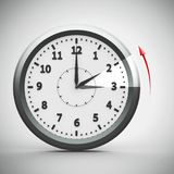 Daylight saving time ends  2. Clock switch to winter time daylight saving time ends isolated on a white, three-dimensional rendering, 3D illustration royalty free illustration