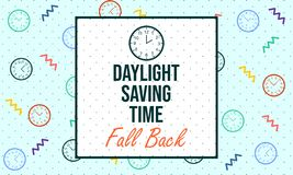 Daylight Saving Time. Fall Back - Vector. Daylight Saving Time. Fall Back. Designed for prints, banner, greeting, etc. Suitable for Your Business - Vector stock illustration