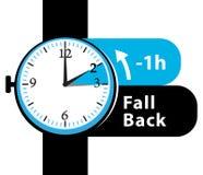 Daylight saving time. fall back watch icon. Stock Photos