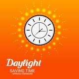 Daylight Saving Time. Illustration of a Background for Daylight Saving TimeSpring Forward Royalty Free Stock Photos
