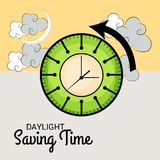 Daylight Saving Time. Illustration of a Background for Daylight Saving TimeSpring Forward Stock Photos