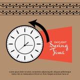 Daylight Saving Time. Illustration of a Background for Daylight Saving TimeSpring Forward Royalty Free Stock Photography