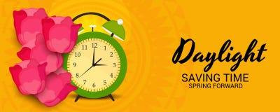 Daylight Saving Time. Illustration of a Background for Daylight Saving TimeSpring Forward vector illustration