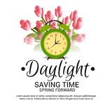 Daylight Saving Time. Illustration of a Background for Daylight Saving TimeSpring Forward stock illustration