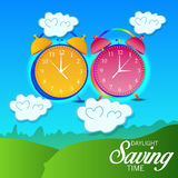 Daylight Saving Time. Illustration of a Banner for Daylight Saving Time Royalty Free Stock Images