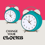 Daylight Saving Time. Illustration of a Banner for Daylight Saving Time Royalty Free Stock Photo