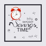 Daylight Saving Time. Illustration of a Banner for Daylight Saving Time vector illustration