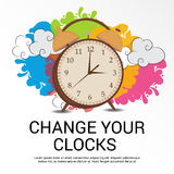 Daylight Saving Time. Illustration of a Banner for Daylight Saving Time stock illustration