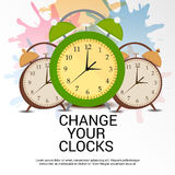 Daylight Saving Time. Illustration of a Banner for Daylight Saving Time royalty free illustration