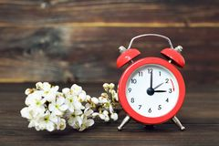 Daylight Saving Time, Summer Time change. Spring forward royalty free stock images