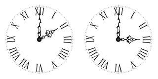 Daylight Saving Time. Vintage arrows. royalty free stock photos