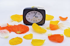 Wall Clock going to winter time Stock Photos
