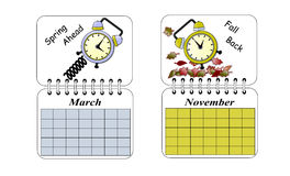 Daylight Savings Time Royalty Free Stock Images