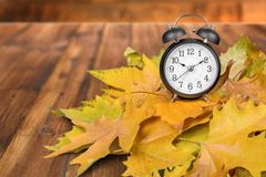Daylight Savings Time. Autumn Clock Time Leaf Season Spring Stock Images