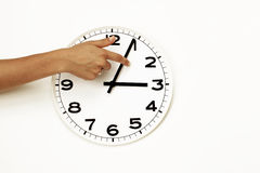 Daylight savings time ending, clock reset (DST) Stock Images
