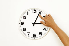 Daylight savings time ending, clock reset (DST) Royalty Free Stock Photo
