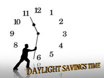 Daylight Savings Time graphic Stock Images