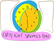 Daylight savings time made by children Royalty Free Stock Images
