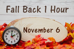 Daylight savings time message Royalty Free Stock Image