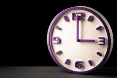 Daylight savings time. 3 o`clock royalty free stock photo
