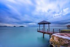 Daylight of sekupang Batam Riau wonderfull Indonesia. Daylight of sekupang beach Batam Riau island wonderfull Indonesia asia Royalty Free Stock Photo