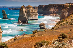Daylight view at coast of Twelve Apostles by Great Ocean Rd Stock Photography