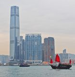 Daylight view on Hong Kong island Stock Photos