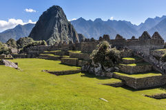 Daylight view at Machu Picchu, the sacred city of Incas, Peru Royalty Free Stock Photos