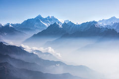 Daylight view of Mount Everest. stock photos