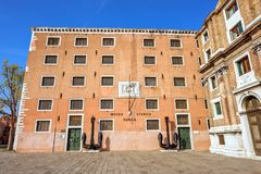 Daylight wide view to Museo Storico Navale in Castello district royalty free stock photography