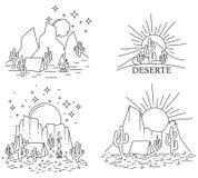 Dayly и еженощная пустыня бесплатная иллюстрация