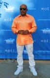 Daymond John, ondernemer en Ster van ABC-Haaitank, bij het rode tapijt vóór ceremonie van de US Open 2014 de openingsnacht Stock Foto