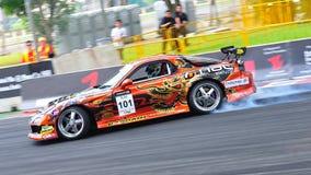 Daynom Templeman drifting at Formula Drift 2010 Royalty Free Stock Photography