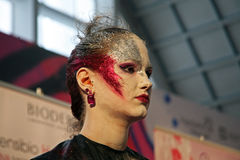 Days of Beauty and Fitness,Stardust make-up contest,Zagreb,Croatia,19 Royalty Free Stock Photo