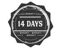 14 days warranty classic retro design icon. 14 days best warranty classic retro design icon royalty free illustration