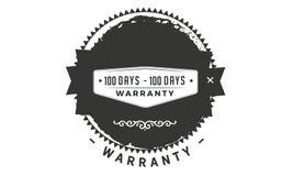100 days warranty classic retro design icon. 100 days best warranty classic retro design icon stock illustration