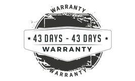 43 days warranty classic retro design icon royalty free illustration