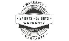 57 days warranty classic retro design icon. 57 days best warranty classic retro design icon royalty free illustration