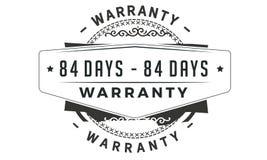 84 days warranty classic retro design icon. 84 days best warranty classic retro design icon royalty free illustration