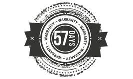 57 days warranty classic retro design icon. 57 days best warranty classic retro design icon stock illustration