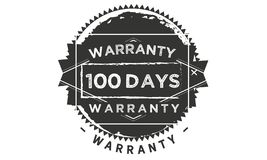 100 days warranty classic retro design icon. 100 days best warranty classic retro design icon royalty free illustration