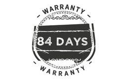 84 days warranty classic retro design icon. 84 days best warranty classic retro design icon stock illustration