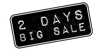 2 days big sale rubber stamp. On white. Print, impress, overprint Stock Photography