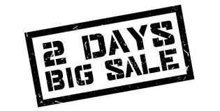 2 days big sale rubber stamp. On white. Print, impress, overprint Stock Image