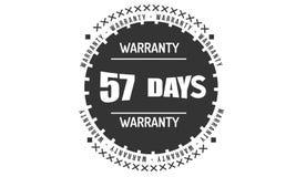 57 days black warranty illustration design. 57 days warranty illustration design stamp badge icon stock illustration