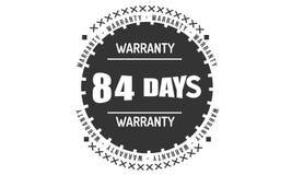 84 days black warranty illustration design. 84 days warranty illustration design stamp badge icon vector illustration